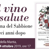 Il vino è salute: il Provana del Sabbione